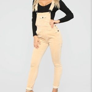 Out For Lunch Overalls - Light Taupe